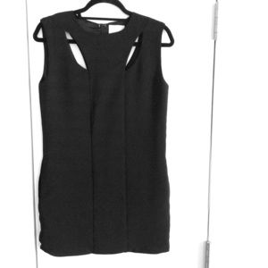 Sleeveless mini dress with cut outs